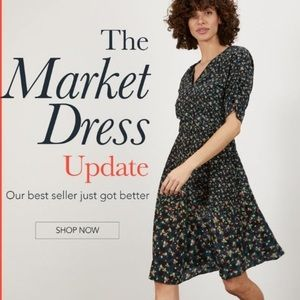 Tucker Market Dress in First Bloom print